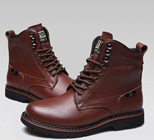 footaction sale online LINYI New Men's Casual Martin Boots Winter Plus Velvet Boots Sports Wear-Resistant Walking Office Career Tooling Brown low price fee shipping YKKNL86VA