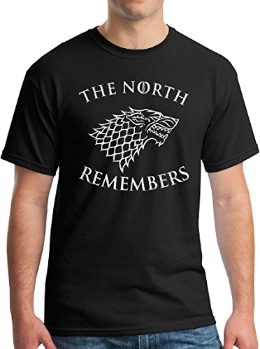 Winterfell The North Remembers Shirt Westeros White Walkers GoT Arya Jon Stark Black L