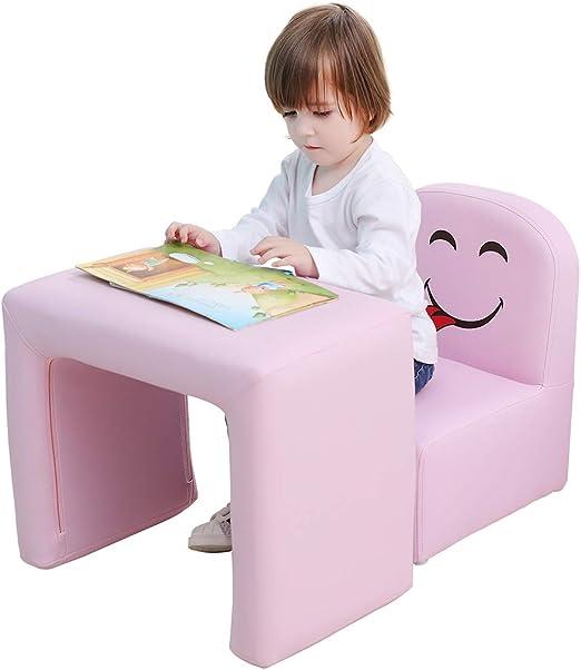 Emall Life Sillón para niños Multifuncional, Silla y Mesa para ...