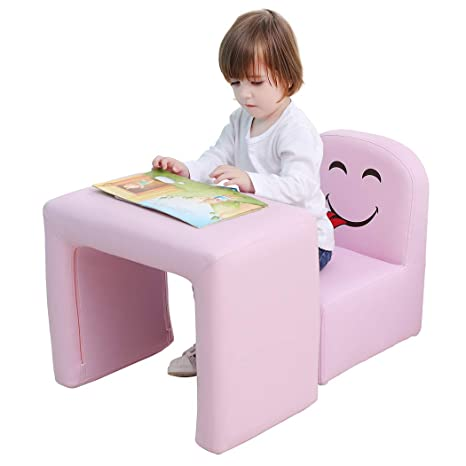 Brilliant Emall Life Multifunctional 2In1 Childrens Armchair Kids Wooden Frame Chair And Table Set Cpsc Certified Boys And Girls Armrest Chair Easy To Clean Andrewgaddart Wooden Chair Designs For Living Room Andrewgaddartcom