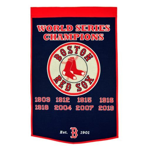 Boston Red Sox World Series Championship Dynasty Banner - with hanging rod (Series Sox Dynasty)