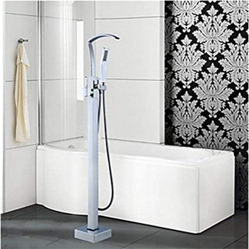 ZY-YY 蛇口現代シングルハンドルのクロム浴室の浴槽の蛇口ハンドシャワー床浴槽フィラーミキサータップ、マルチ