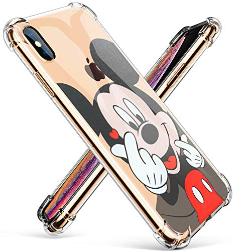 Logee TPU Mickey Mouse Cute Cartoon Clear Case for iPhone X/iPhone Xs 5.8