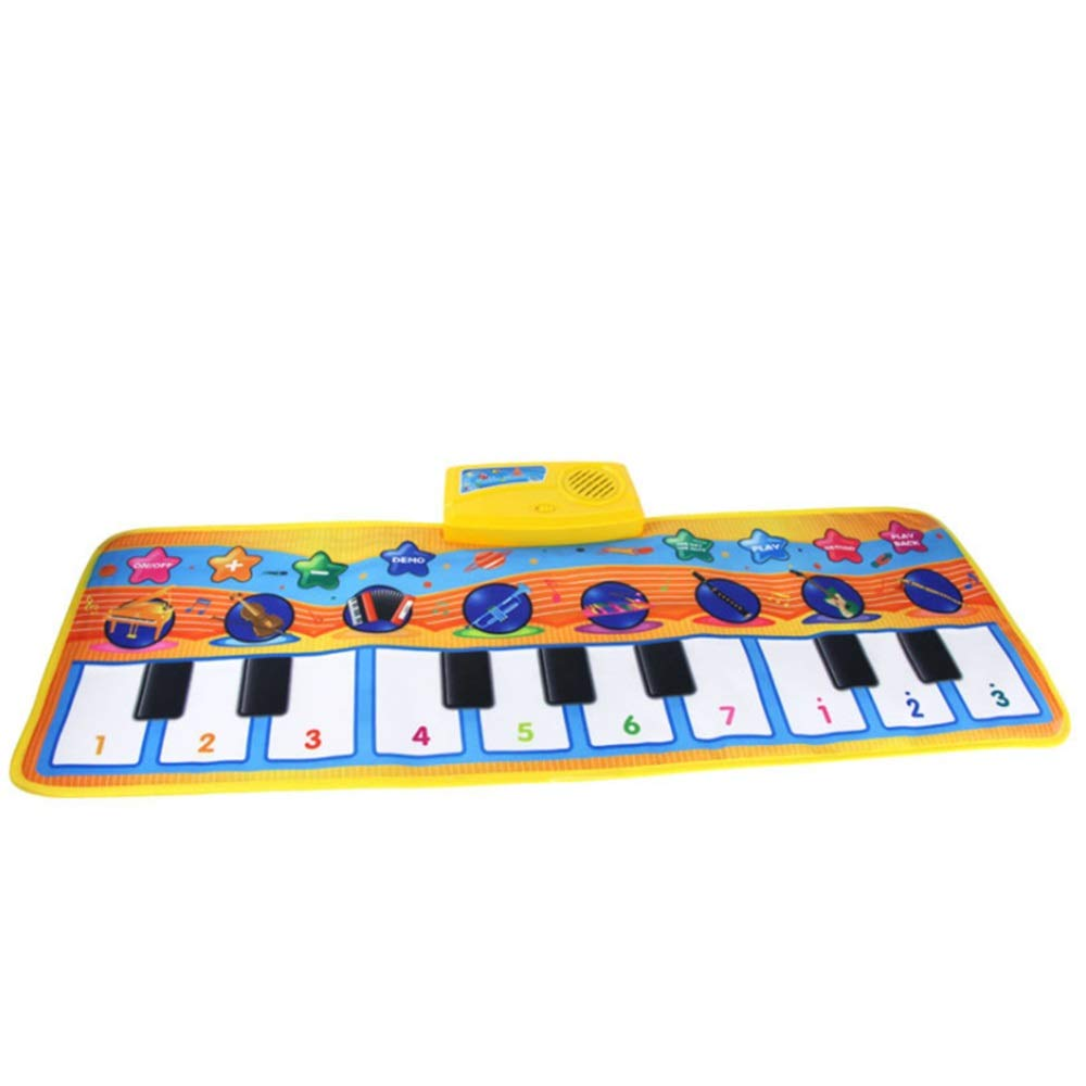 Play Keyboard Mat 32 Inches 10 Keys Electronic Musical Keyboard Playmat Foldable Floor Keyboard Piano Dancing Activity Mat Step And Play Instrument Toys For Toddlers Kids Children's Gift Different Mus by GAOCAN-gq (Image #4)