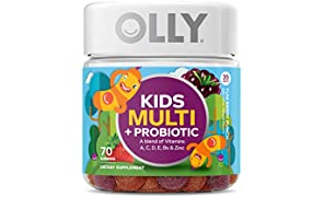 OLLY Kids Multi + Probiotic Gummy Multivitamin, 35 Day Supply (70 Gummies), Yum Berry Punch, Vitamins A, C, D, E, B, Zinc, Probiotics, Chewable Supplement