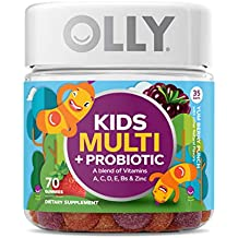 OLLY Kids Multivitamin & Probiotic Gummy Supplement with Zinc & PROBIOTICS; Yum Berry Punch; 70 Gummies (35 Day Supply)