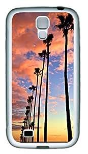 California Palm Tree Theme Samsung Galaxy S4 i9500 Case TPU Material by icecream design