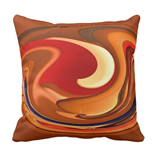 - Emvency Throw Pillow Cover Accent Funky Abstract Burnt Orange Fall Decorative Pillow Case Home Decor Square 20 x 20 Inch Pillowcase
