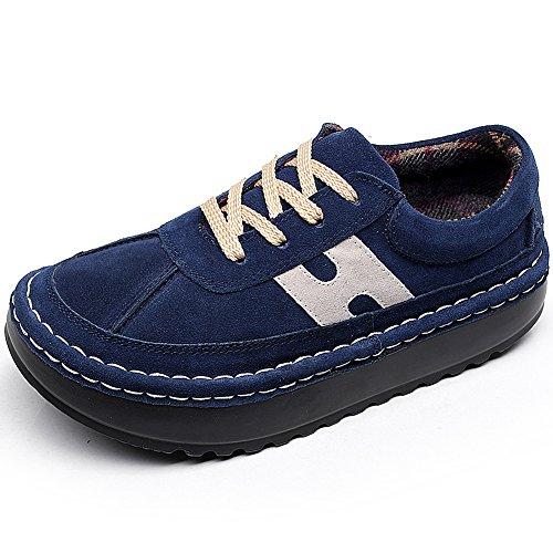 2602 Femme Shenn Formateurs Chaussures Suède Confort Décontractée Plate forme 687P6x