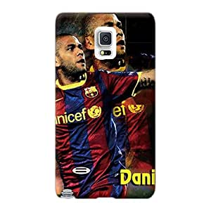 Scratch Protection Hard Cell-phone Case For Samsung Galaxy Note 4 With Allow Personal Design Fashion The Best Football Player Of Barcelona Daniel Alves Image Aimeilimobile99