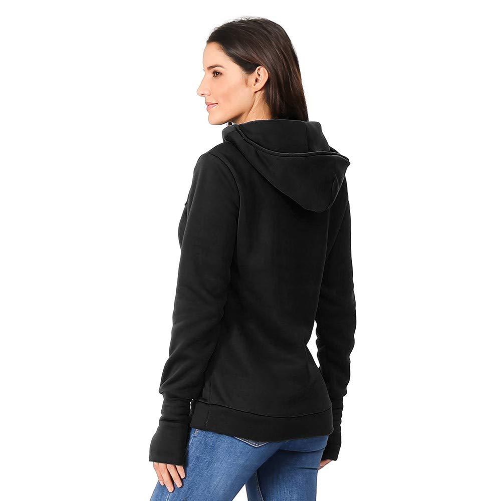 nikunLONG Loose Top Shirt Womens Nursing Maternity Shirt Pullover Long Sleeves Hooded Weave Pullover Hoodie