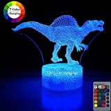 Dinosaur Night Light for Kids,Dimmable LED Nightlight Bedside Lamp,16 Colors+7 Colors Changing,Touch&Remote Control,Best Unicorn Toys Birthday Christmas Gifts for Girls Boys (Dinosaur Spinosaurus)