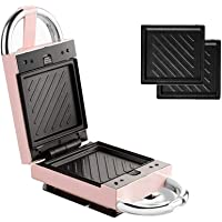 Sandwich Toaster, 650W Low Power Professional Waffle Maker, Electric Toast Panini Machine, Steak Frying Pan Grill (Color…