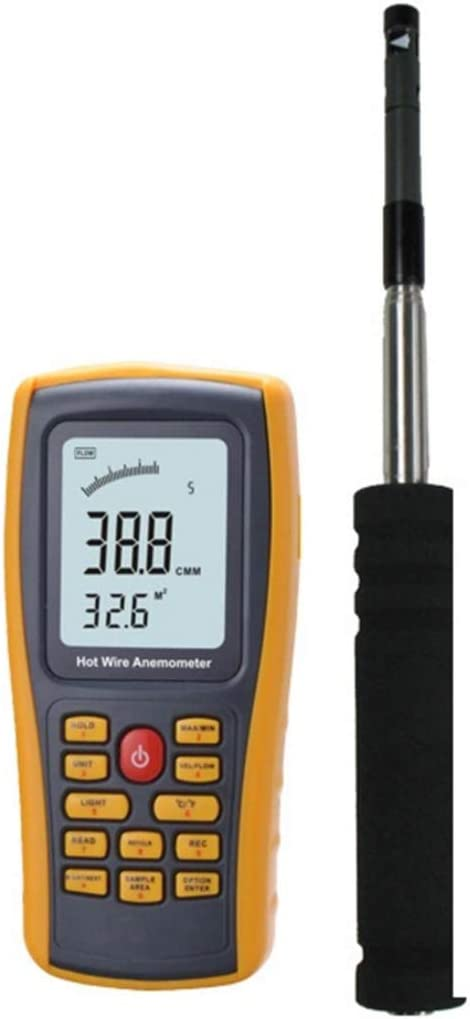 FENXIMEI Digital Anemometer GM 8903 Wind Speed Temperature Air Volume Measurement High Precision Measurement Easy Compact Portable LCD with Easy-to-use Probe Anemometer Weather Station