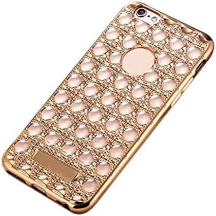 For iphone 6 Plus /6s Plus, Mchoice Crystal Diamond Plating Clear Rubber Soft TPU Cover Case for iphone 6 Plus /6s Plus