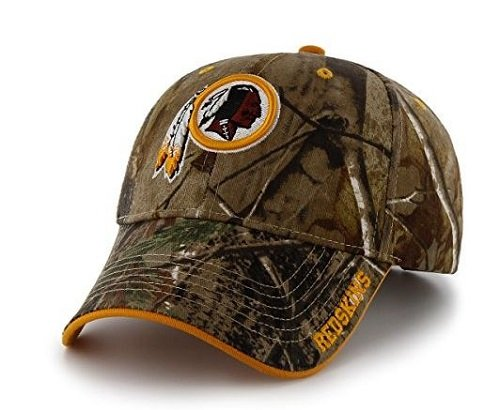 '47 NFL Washington Redskins Frost MVP Camo Adjustable Hat, One Size Fits Most, Realtree Camouflage