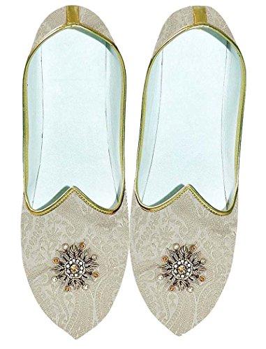 INMONARCH Mens Cream Wedding Shoes Machine Embroidered MJ0703 eiYkRQkth2