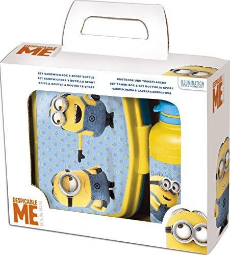 Minion Despicable Me ~ 2 Piece Sandwich Box & Sports Bottle Set