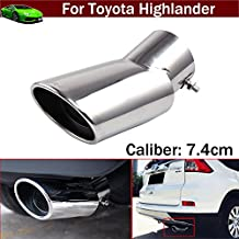 1pcs Car Rear Exhaust Muffler Rear Tail Pipe Tip Tailpipe Extension Pipes Custom Fit For Toyota Highlander 2007 2008 2009 2010 2011 2012 2013 2014 2015 2016 2017 2018