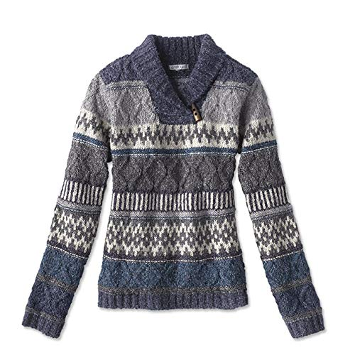 Orvis Women's Fair Isle Shawl-Collar Sweater, Large