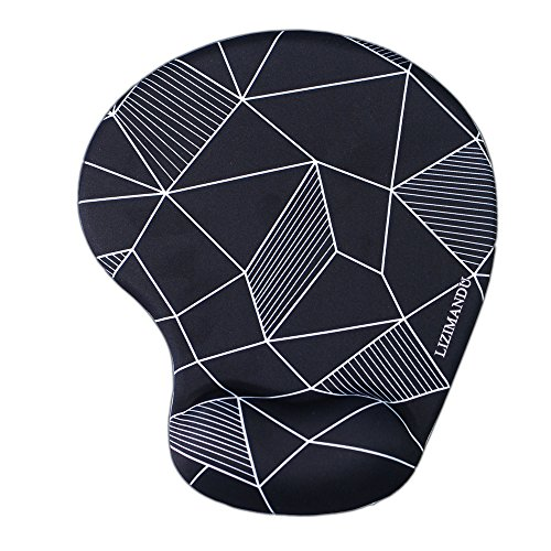 Lizimandu Non Slip Mouse Pad Wrist Rest For Office, Computer, Laptop & Mac - Durable & Comfortable & Lightweight For Easy Typing & Pain Relief-Ergonomic Support(Black Fragment)