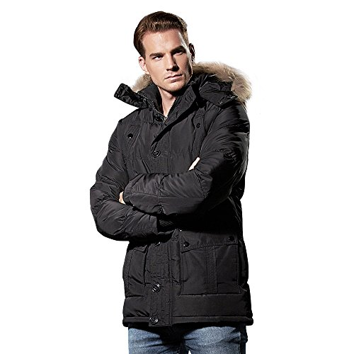 Down Windproof Color Solid Thick Winter and Jacket fy Grey Y Warm Men's Coat Men's Padded nSIHgROqwx