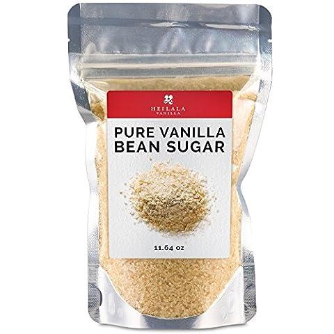 Heilala Vanilla Pure Vanilla Bean Sugar (11.6 oz) Ground Vanilla Beans with Organic Sugar Mix, Award Winning, Hand Picked in - Tahitian Whole Bean Coffee