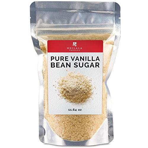 Pure Vanilla Bean Sugar (11.6 oz) Heilala Vanilla Ground Vanilla Beans with Organic Sugar Mix, Award Winning, Hand Picked in Tonga