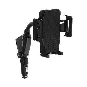 【Cargador con Soporte de Movíl 】para Coche Universal para iPhone y Android Smartphone