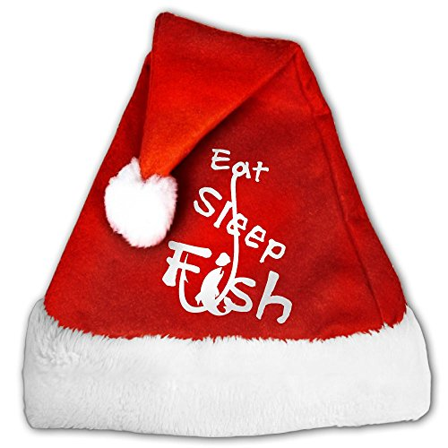Holiday Costumes House Columbus (Colla CollaEat Sleep Fish Santa Hat Perfect Accessory For Santa Claus Costume - Celebrate Xmas With Family & Friends Medium)