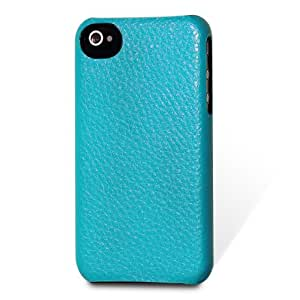 Artisan Series Leather Hardshell Case for iPhone 4/4S - Turquoise