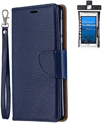 Samsung Galaxy S10 Plus プラス レザー ケース, 手帳型 サムスン ギャラクシー S10 Plus プラス 本革 財布 携帯ケース 耐摩擦 ビジネス カバー収納 無料付スマホ防水ポーチIPX8 Holistic