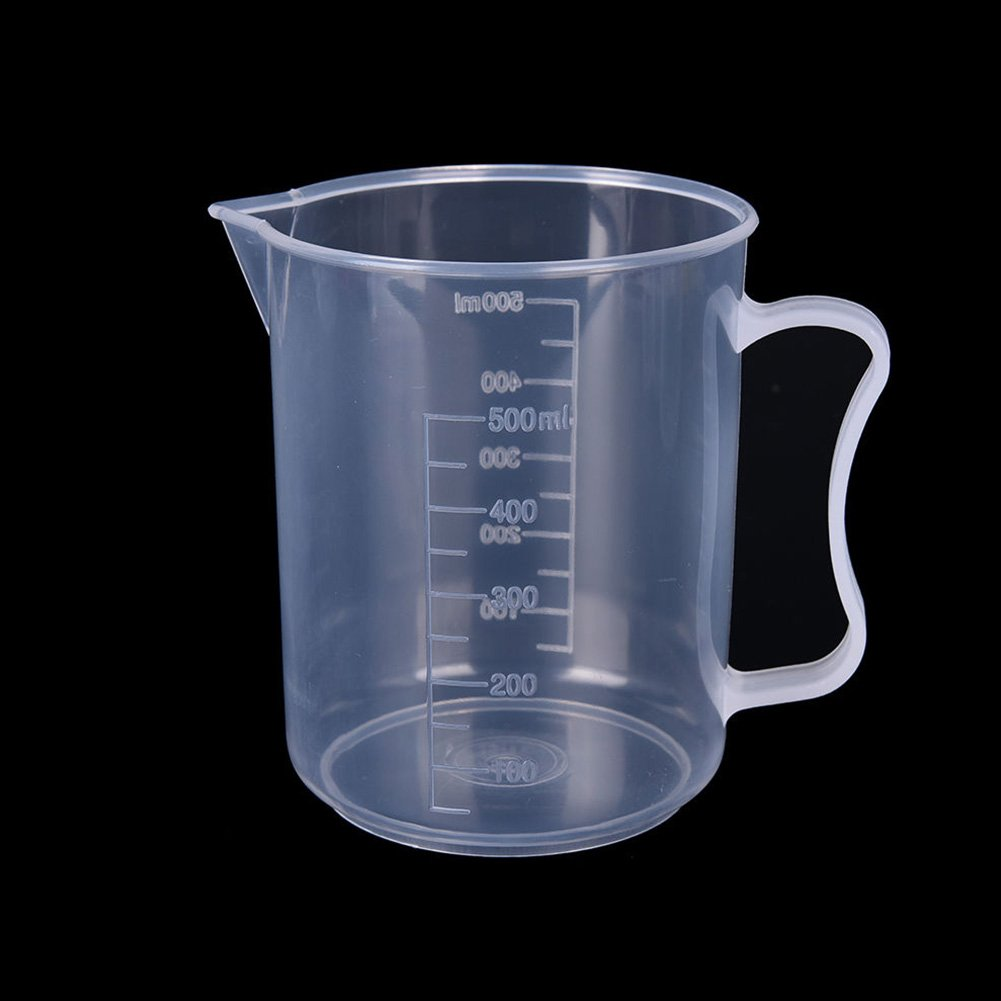 FAVOLOOK Plastic Measuring Cup Graduated Beakers Jug Pour Spout Surface Kitchen Tool 20/30/50/100/250/300/500/1000ML(20ML 2pcs, as the picture)