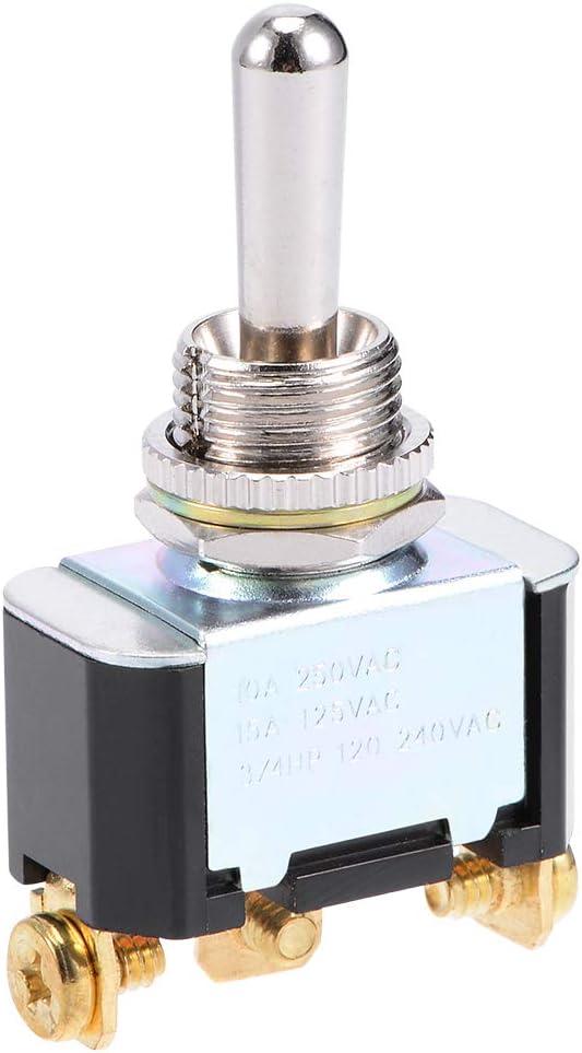 125 V 250 V cubierta impermeable para maletero interruptor de encendido//apagado//encendido Sourcingmap SPDT Interruptor basculante autobloqueante resistente 10 A 15 A 3 P