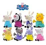 8pcs/set 19cm Peppa Pig peppa's friend Candy Danny Emily Pedro Rebecca Suzy Zoe Richard kids plush toy gift hot sale