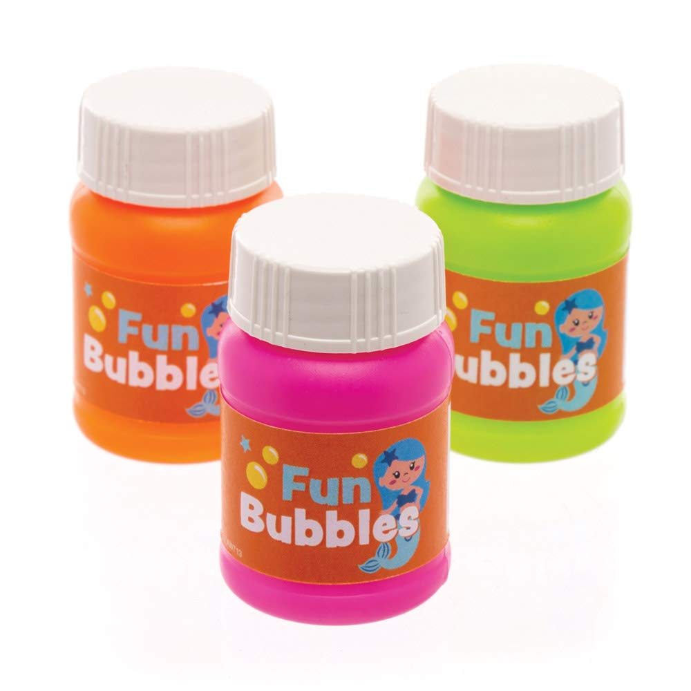 Pack of 8 Perfect for Party Bag Fillers and Favours Baker Ross Magical Mermaid Blowing Bubbles