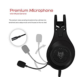 NUBWO N2 Xbox One PS4 Gaming Headset, PC Mic Stereo Gamer Headphones with Microphone Computer Xbox one s Playstation 4 Xbox 1 x Games - Black