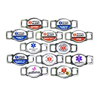 Paracord Planet Medical Alert ID Charms For Paracord Bracelets and Shoelaces
