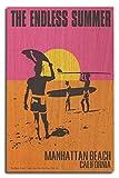Manhattan Beach, California - The Endless Summer - Original Movie Poster (10x15 Wood Wall Sign, Wall Decor Ready to Hang)