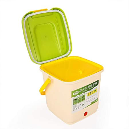 OUKANING Bokashi - Recipiente para Compost (9 L, con ventilación ...