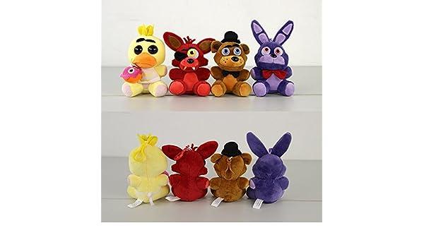 Amazon.com: 4Pcs Five Nights At Freddys 4 FNAF Freddy Fazbear Bear Foxy Chica Duck Bonnie Rabbit Kawaii Plush Stuffed Toys Peluches Doll: Baby
