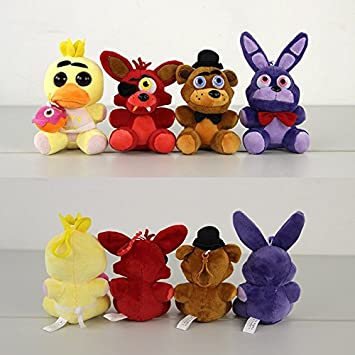 4Pcs Five Nights At Freddys 4 FNAF Freddy Fazbear Bear Foxy Chica Duck Bonnie Rabbit Kawaii