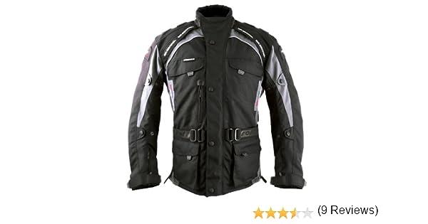 XS Negro Roleff Chaqueta de Motorista Racewear Liverpool