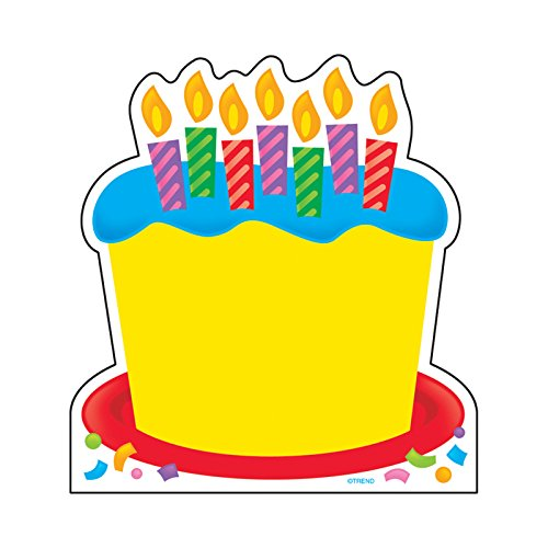 Trend Enterprises, Inc. T-72032BN Birthday Cake Note Pad-Shaped, 50 Sheets per Pad, Pack of 6