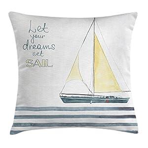 51krpodis4L._SS300_ 100+ Nautical Pillows & Nautical Pillow Covers