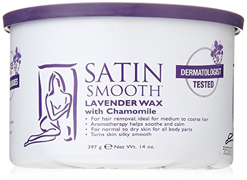 SATIN SMOOTH Lavender Wax with Chamomile, 14 (Lavender Wax)