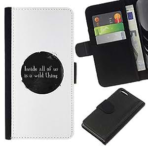 NEECELL GIFT forCITY // Billetera de cuero Caso Cubierta de protección Carcasa / Leather Wallet Case for Apple Iphone 5C // MENSAJE LO SALVAJE
