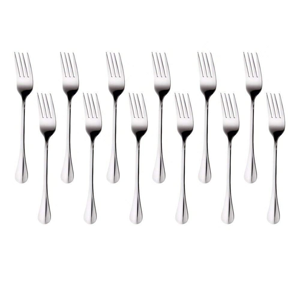 AckMond 12 piezas (20 cm, 8 pulgadas) de acero inoxidable cena tenedor, tenedor de mesa: Amazon.es: Hogar