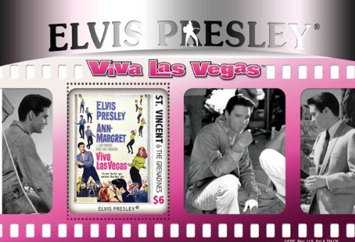 Elvis Presley Ann Margret Viva Las Vegas Collectible Postage Stamp