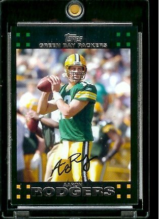 (2007 Topps Football Card #18 Aaron Rodgers )